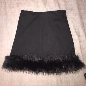 Mini skirt with fur-Forever 21